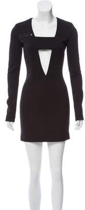 Anthony Vaccarello Cutout-Accented Sheath Dress