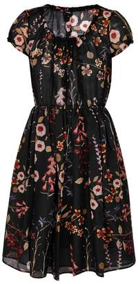 Emporio Armani Floral-print Cotton And Silk-blend Dress