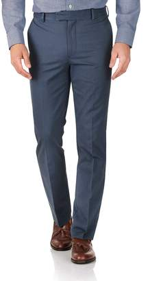 Charles Tyrwhitt Airforce Blue Slim Fit Flat Front Non-Iron Cotton Chino Pants Size W30 L32