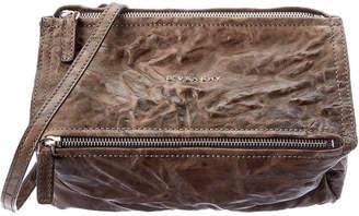 Givenchy Pandora Mini Aged Leather Shoulder Bag
