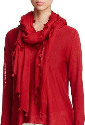 Eileen Fisher Tassel-Trimmed Organic Cotton Scarf $78 thestylecure.com