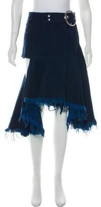 Marques Almeida Marques' Almeida Knee-Length Denim Skirt w/ Tags