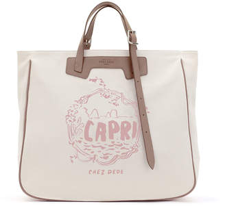 De.De Chez Capri Tall Canvas Tote Bag