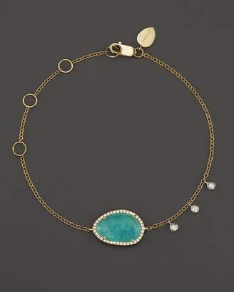 Meira T 14K Yellow Gold Amazonite Bracelet with Diamonds