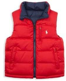 Ralph Lauren Little Boy's& Boy's El Cap Quilted Reversible Vest