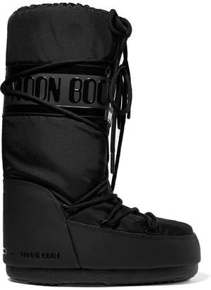 Moon Boot Shell And Rubber Snow Boots - Black