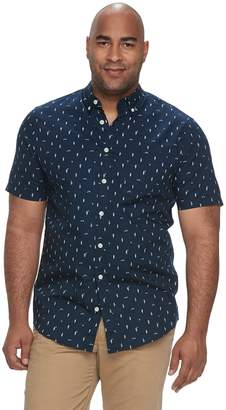 Big & Tall Urban Pipeline Awesomely Soft Regular-Fit Plaid Button-Down Shirt