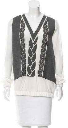 Viktor & Rolf Oversize Silk-Blend Top w/ Tags