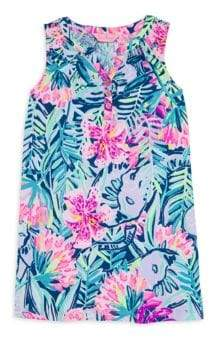 Lilly Pulitzer Little Girl's& Girl's Essie Floral Dress