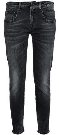 Faded Low-Rise Slim-Leg Jeans