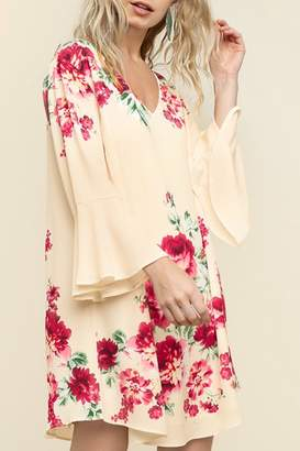 Umgee USA Floral Bell Sleeve
