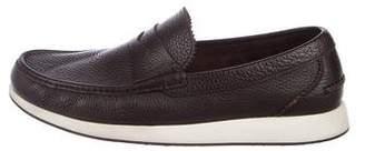 Salvatore Ferragamo Leather Slip-On Sneakers
