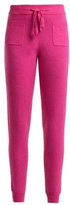 Allude Wool Blend Track Pants - Womens - Fuchsia