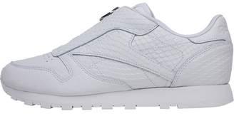 28588168724 Reebok Classics Womens Leather Zip Trainers White
