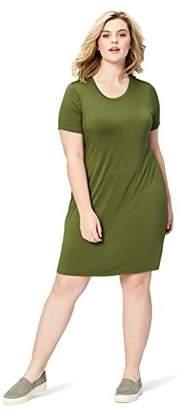 Daily Ritual Women's Plus Size Jersey Short-Sleeve Scoop Neck T-Shirt Dress