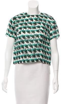Tanya Taylor Printed Short Sleeve Top