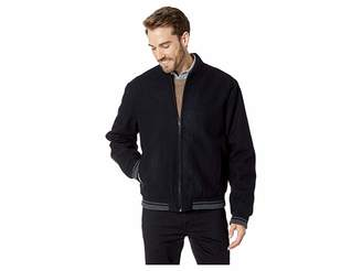 Calvin Klein Wool Bomber Jacket with Contrast Rib Tipping