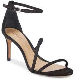 Schutz Jenina Leather Stiletto Sandals