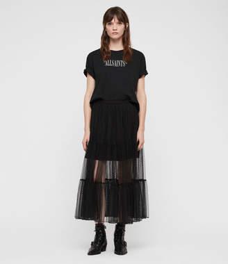 AllSaints Lali Long Skirt