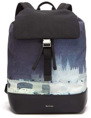 Paul Smith London Photo Print Canvas Backpack - Mens - Multi