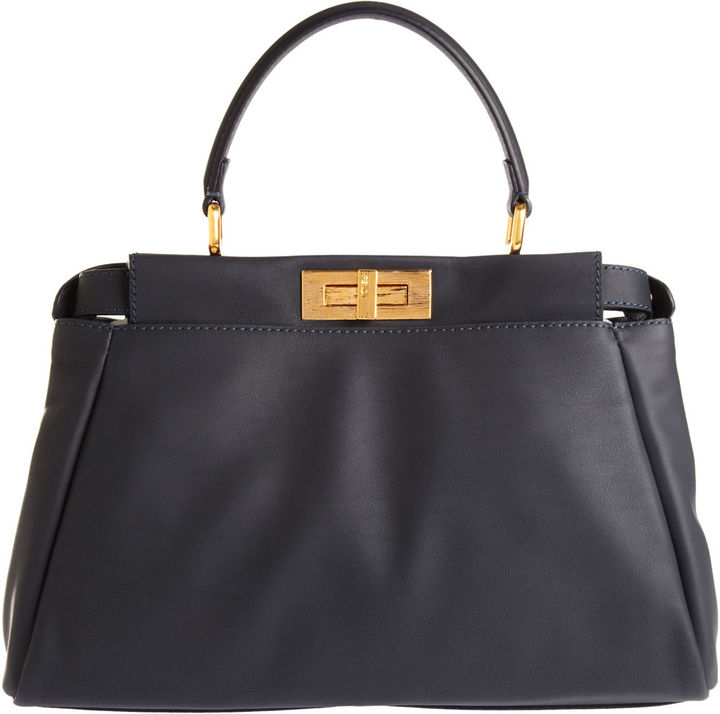 Fendi Small Peekaboo - Navy