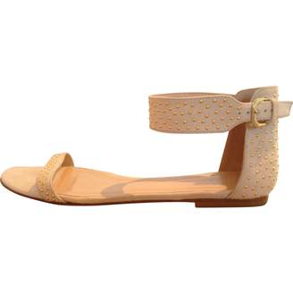 Club Monaco Ecru Suede Sandals