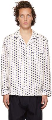 Blue Blue Japan White Komon Room Shirt