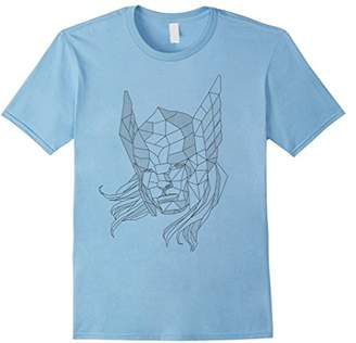 Marvel Thor Geometric Line Art Graphic T-Shirt