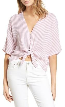 Women's Rails Thea Tie Front Crop Top $138 thestylecure.com