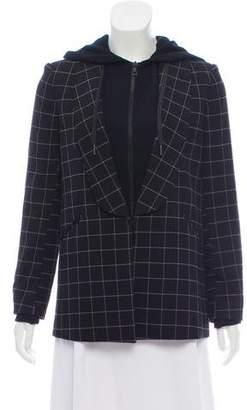 Alice + Olivia Hooded Checkered Jacket
