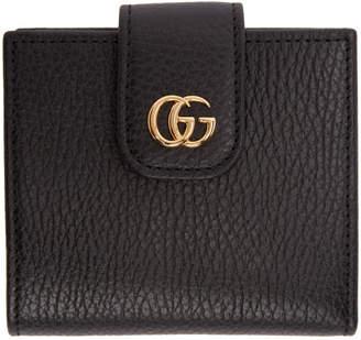 Gucci (グッチ) - Gucci ブラック スモール マーモント スナップ カード ケース ウォレット