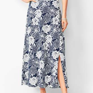 Talbots Jersey Maxi Skirt - Floral