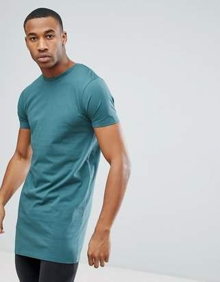 Asos DESIGN super longline t-shirt in blue