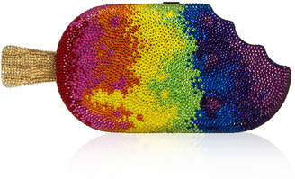 Judith Leiber Couture Rainbow Popsicle Clutch Bag