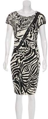 Blumarine Wool Printed Dress w/ Tags