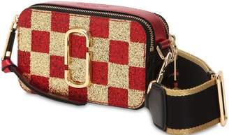 Marc Jacobs Snapshot Glittered Leather Shoulder Bag