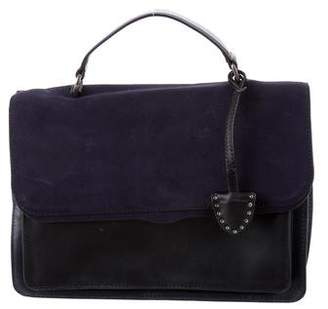 Rebecca Minkoff Leather & Suede Top Handle Satchel w/ Tags