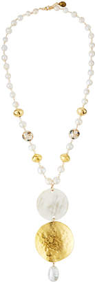Devon Leigh Pearl Beaded Triple Pendant Necklace