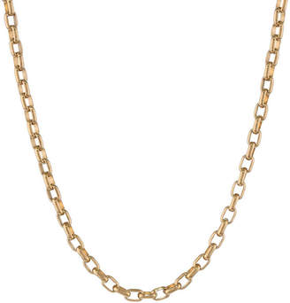 JCPenney FINE JEWELRY Mens Stainless Steel & Gold-Tone IP 22 4mm Foxtail Chain