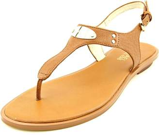 MICHAEL Michael Kors Womens Plate Leather Split Toe Casual T-Strap Sandals