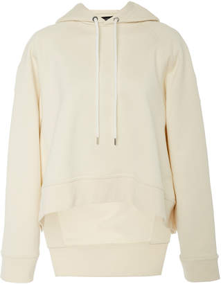 Cédric Charlier High-Low Cotton Hooded Sweatshirt