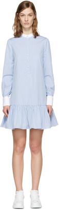 Alexander McQueen Blue Drop Waist Shirt Dress $1,465 thestylecure.com