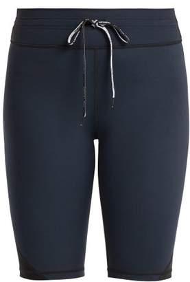 The Upside Panelled Matte Spin Short - Womens - Black Blue