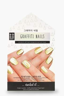 boohoo Soko Ready Graffiti Nails