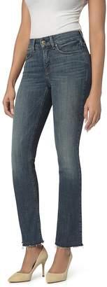 NYDJ Petites Marilyn Straight Cutoff Jeans in Desert Gold