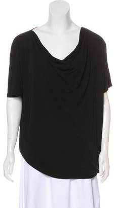Michael Kors Short Sleeve Cowl Neck Top