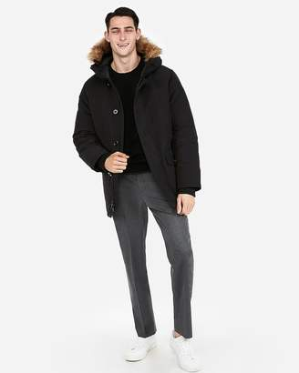 Express Faux Fur Lined Hooded Parka