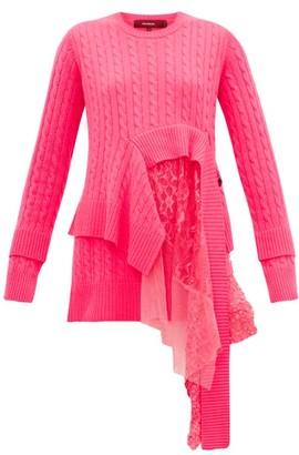 Sies Marjan Trine Layered Wool Blend Sweater - Womens - Fuchsia