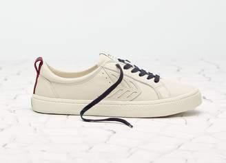 Cariuma CATIBA Low Beige/Burgundy Premium Leather Sneaker Women