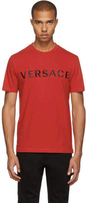 Versace Red Logo T-Shirt